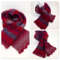 Crochet fan stitch hand made wool scarf