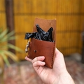 Attachable Leather Doggy Bag Holder