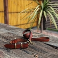 Personalised Matching Leather Dog Collar and Lead
