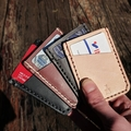 Kangaroo Leather Handmade Slim Card Wallet