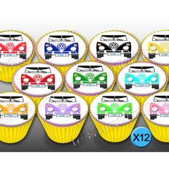 Kombi Van Cupcake Toppers