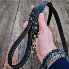 Personalised Leather Dog Lead Full Grain