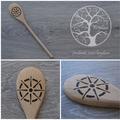 Wood Burnt Ship Wheel Wooden Spoon