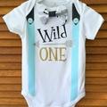 Wild One Tribal Boys Birthday Onesie & Party Hat Boys 1st Birthday