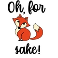 """Oh, for fox sake!"" Decal/sticker"