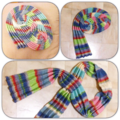 Knitted hand made cotton scarf
