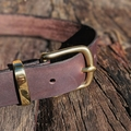 "Leather Dog Collar Full Grain ""Drover's"""