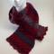Crochet fan stitch hand made wool scarf