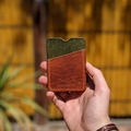 Personalised Two Tone Card Wallet Bespoke