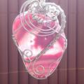 Pink druzy, geode chain, wire wrapping, gemstone, unique