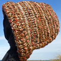 Bulky adult unisex hats,  wool, ribbed, textured