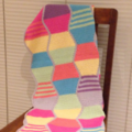 Baby reversible cotton crochet heirloom blanket or Lap blanket