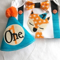 Cute Fox 1st Birthday Boy Outfit Bow Tie Number 1