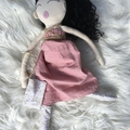 Mati & Bel. Unique handmade heirloom quality cloth art doll. Eco friendly fillin