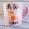 """""""Oh, for fox sake!"""" Decal/sticker"""