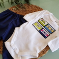 Baby Boys Mixed Tape Pants Set