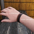 Personalised Leather Stitched Bracelet