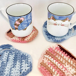 Crochet cotton drink coasters set of 4 perfect for a gift