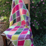 Crochet baby or lap cotton blanket