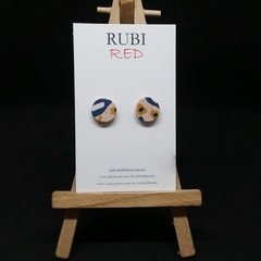 Pink Autumn inspired polymer clay studs