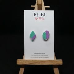 Aqua and Purple Mismatched pair