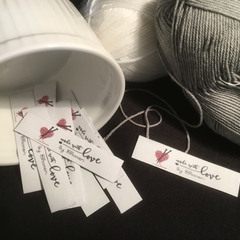 Knitting Sewing Tags Fabric Labels - Premade Logo