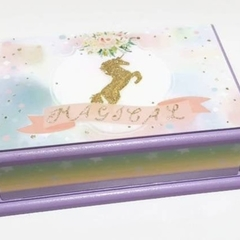 Pastel Lilac Unicorn Box, Keepsake, Trinket, Treasure, Jewellery, Wooden Box