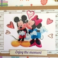 'Enjoy the moment' Mickey and Minnie Mouse Birthday Card