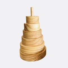 Natural wooden Ring Stacker.