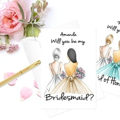 "Mix & Match ""Will You Be My Bridesmaid, Maid or Matron Honour"" Personalised Card"