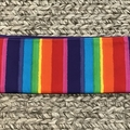 Rainbow stripe pencil case