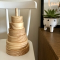 Natural wooden Ring Stacker.