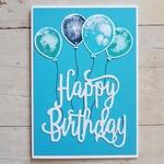 Happy Birthday Balloons - Turquoise