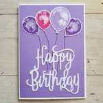Happy Birthday Balloons - Mauve