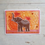Elephant Oriental Card