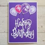 Happy Birthday Balloons - Purple