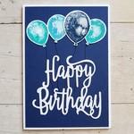 Happy Birthday Balloons - Navy
