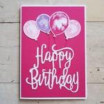 Happy Birthday Balloons - Hot Pink