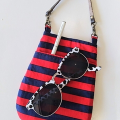 Bag organizer - RED × NAVY - Stripe