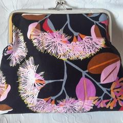 Pink Gum blossoms clutch bag