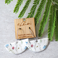 Porcelain Earrings ○ Handmade Sustainable Jewellery ○ Semi ○ Wildflower