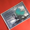 'Our deepest fears…' Inspirational Mini Poster with Dragon