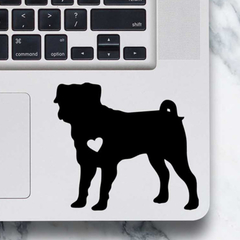 Pug Dog Sticker - Laptop Decal