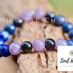 Third Eye Chakra Gemstone Bracelet, Seven Chakras Edition Bracelet.