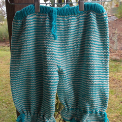 child's hand knitted bloomer or pirate pants. cotton/acrylic  ON SALE