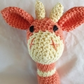BABY RATTLE  - Giraffe Rattle