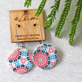 Porcelain Earrings ○ Handmade Sustainable Jewellery ○ Circle ○ Kaleidoscope
