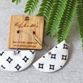 Porcelain Earrings ○ Handmade Sustainable Jewellery ○ Semi ○ Black Diamond