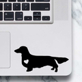 Long Haired Dachshund Sticker - Laptop Decal