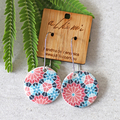 Porcelain Earrings ○ Handmade Sustainable Jewellery ○ Circle ○ Kaleidoscope